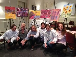 6 vriendinnen schilderen